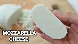 MOZZARELLA CHEESE 100% REAL VIDEO by (YES I CAN COOK)