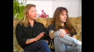 Iron Maiden - Steve Harris & Dave Murray Interview at Super Channel 1988 , 720 p
