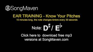 perfect pitch training tones, 10 minutes long - note = -d#/eb