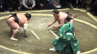 20140511 白鵬 vs千代鳳 大相撲夏場所初日 白鵬万全.