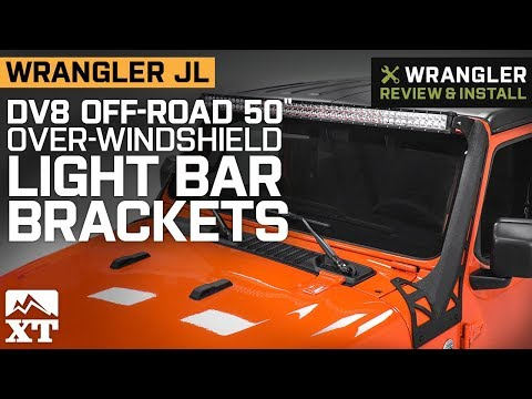 DV8 Offroad Over Windshield Light Bar Bracket Wrangler JL LBJL-01