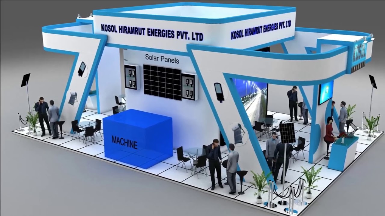 Exhibition Stall On Behance : D stall design cgtrader behance rajvir aed youtube