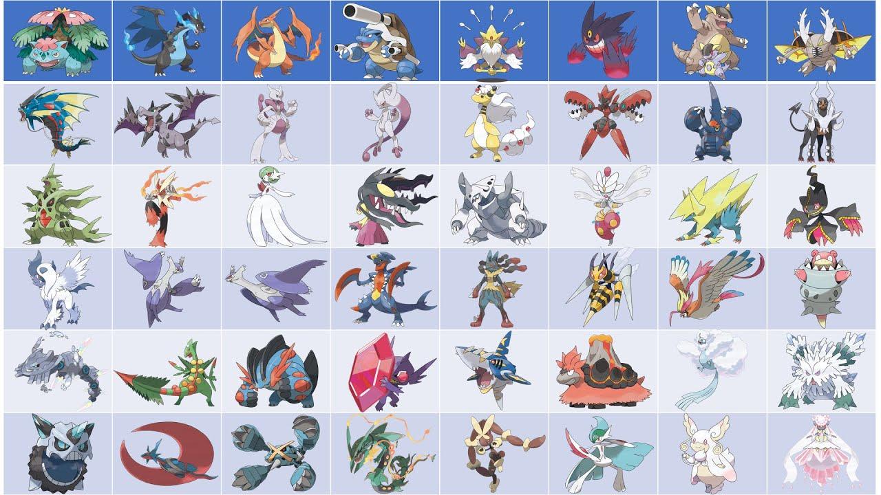 Drawing and coloring all Mega Pokemon - Generation 12 - 12