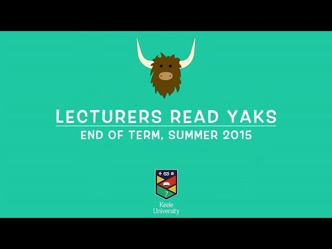 Lecturers Read Yaks #1