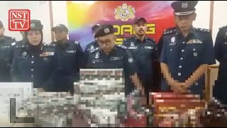 Pahang Customs seize smuggled cigarettes from an unoccupied house