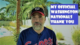 Josh Levine Speaks Expos & Nationals World Series Thank You