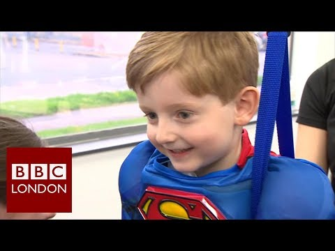 Learning to walk again thanks to a real life superhero  BBC London