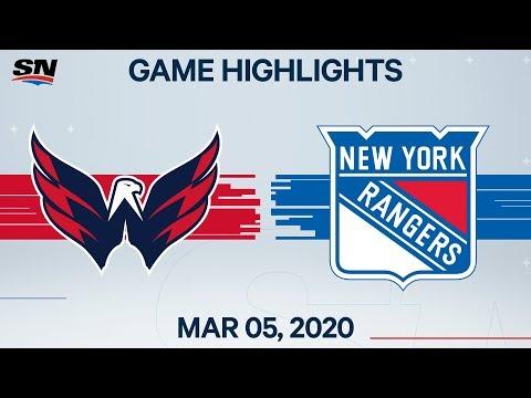 NHL Highlights | Capitals Vs. Rangers - Mar. 05, 2020