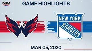 NHL Highlights   Capitals vs. Rangers - Mar. 05, 2020