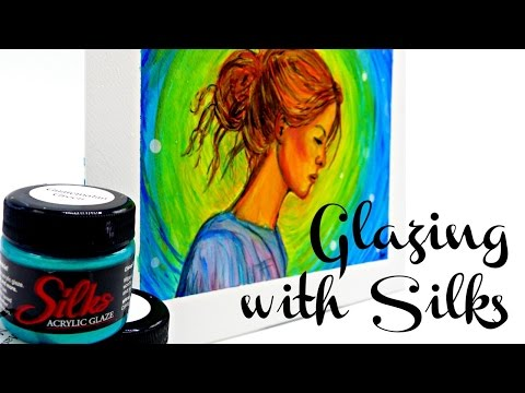 Glazing with Silks - Grisaille Technique