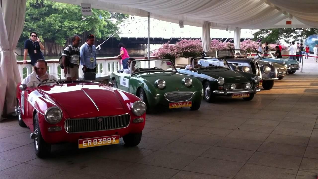 Singapore Gp Formula Classic Cars Driveoff Youtube