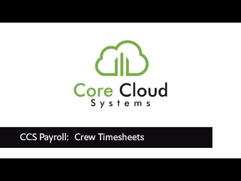 ccs how to creating timesheets for a crew in ccs time youtube