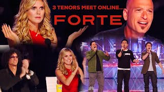 FORTE - Three Tenors meet online and shock the judges on Americas Got Talent! - Pie Jesu