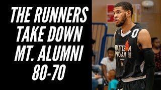 The Runners defeat Mt.  Alumni (80-70) on Day One of the Matteson Proam