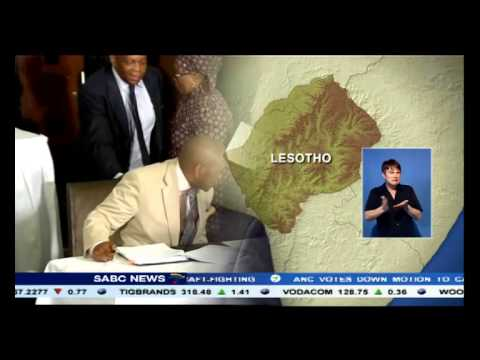 An agreement has been reached with Lesotho's warring forces: Ramaphosa