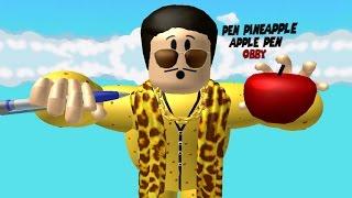 [로블록스(Roblox)] 팬 파인애플 머리통을 밟아라 발랄한 노랑색이 가득한 탈출맵!(Pen Pineapple Apple Pen Obby) 간단 리뷰 & 플레이 영상
