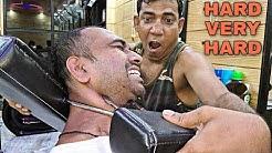 Hard massage by asim barber | Loud cracking | indian ASMR