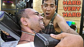 Hard massage by asim barber | Loud cracking | indian ASMR