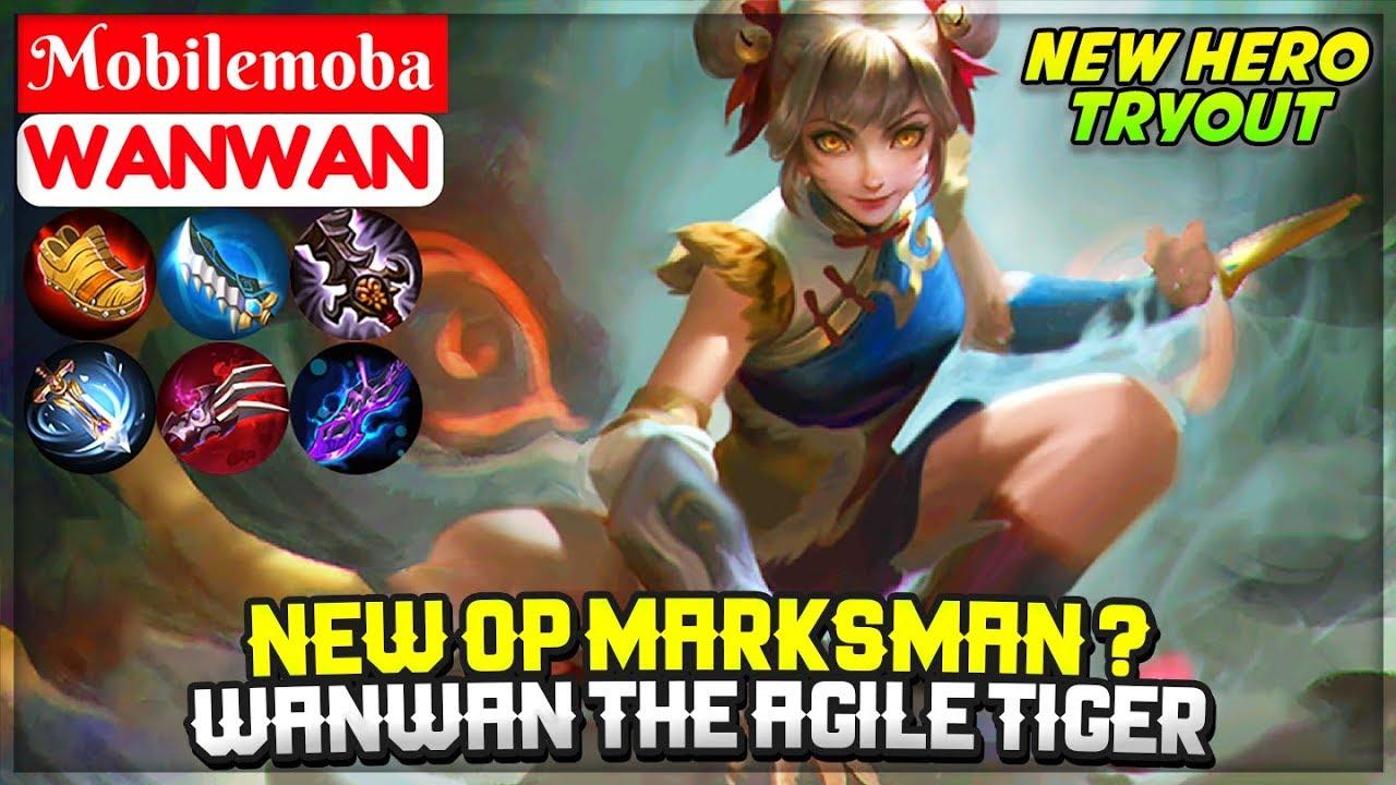 New OP Marksman Wanwan The Agile Tiger [ New Hero Gameplay ] Mobile Legends