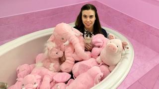 STUFFED ANIMALS BATH CHALLENGE!!!