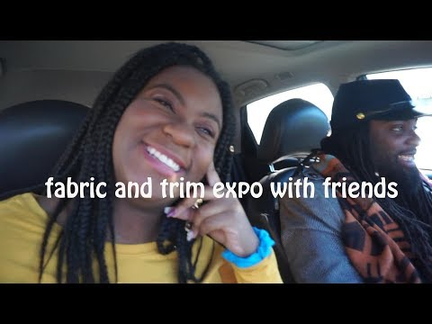 vlog: fabric and trim show and fabric shopping in chicago