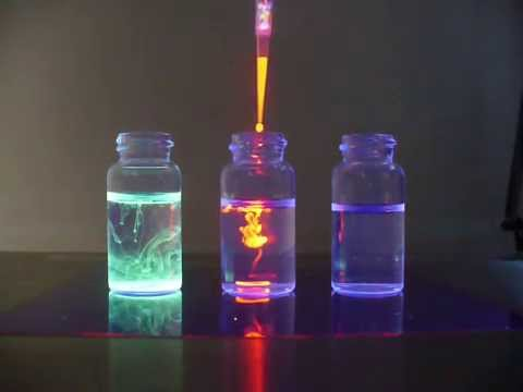 PhosphorDots non toxic quantum dots, with UV illumination