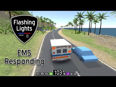 Flashing Lights  EMS Responding