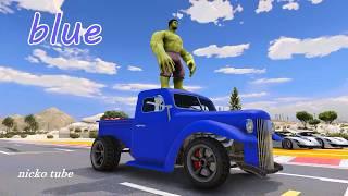 Öğrenin Numaraları N Renkleri Komik Araba Pikap Renkleri w - Kreş Çocuklar İçin Çizgi film Tekerlemeler