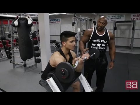 Barbell PREACHER CURL with Fred BIGGIE Smalls! (Pro Series)