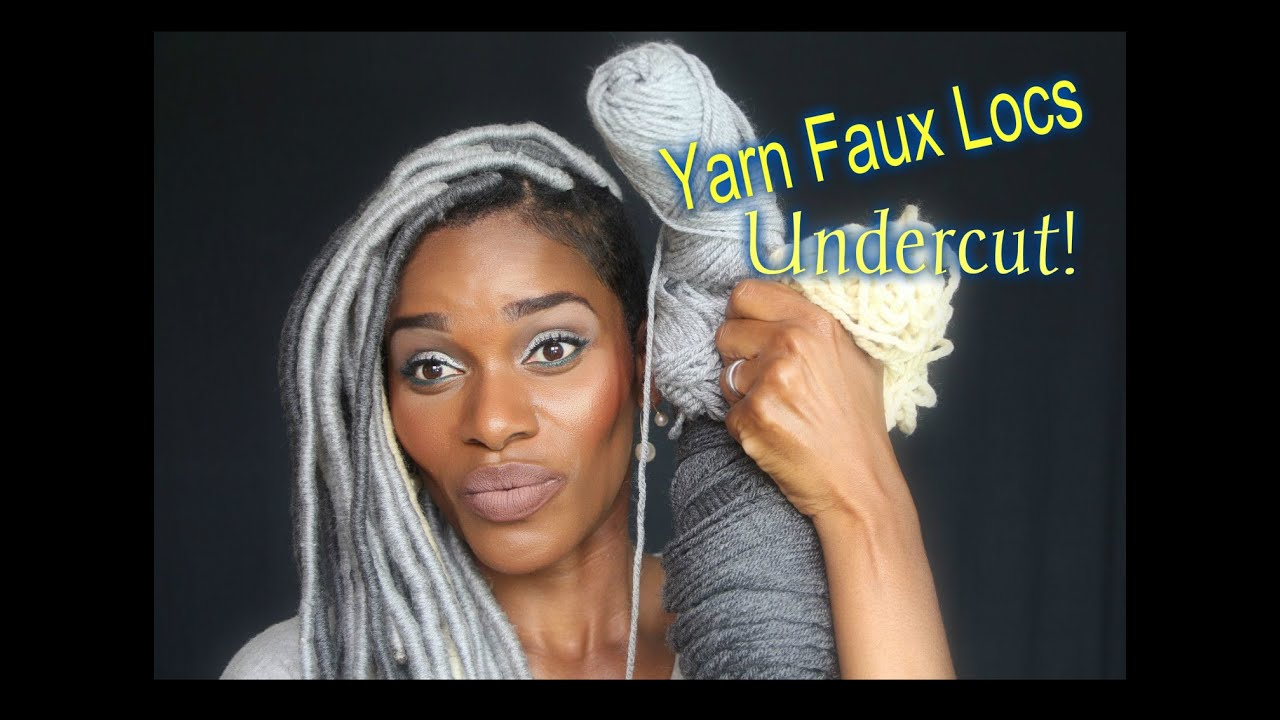DETAILED DEMO YARN FAUX LOCS PLATINUM UNDERCUT KIM
