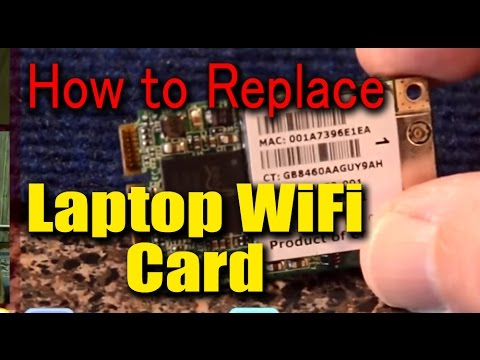 how to fix a wifi card for laptop