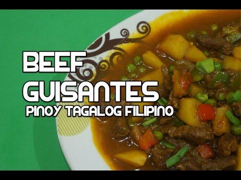 Paano magluto Beef Guisantes Recipe - Filipino Tagalog Pinoy