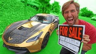 SELLING MY BROTHERS GOLD CORVETTE?!?