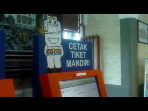 Cara Mencetak Print Sendiri Tiket Kereta Api Di Stasiun Youtube