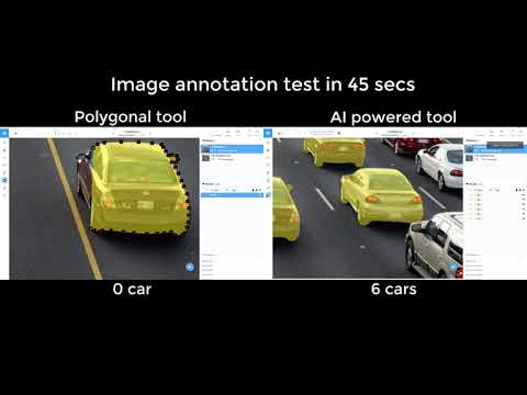 Cars annotation in Supervisely: Polygons vs. AI powered tool