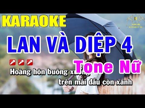 Karaoke Lan Và Điệp 4 Tone Nữ Nhạc Sống   Trọng Hiếu
