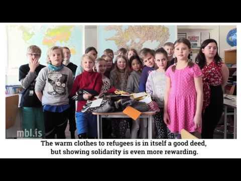 Knit Aid in a school in Reykjavik, Iceland