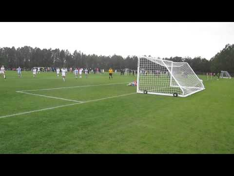 FC Stars of Massachusetts converts free kick - NPL Showcase