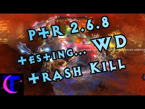 Diablo III PTR 2.6.8 - Witch Doctor Trash Killing Testing (2man GR 115)