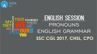 PRONOUNS | ENGLISH GRAMMAR | SSC CGL 2017, CHSL, MTS, LDC, CPO | Online SSC CGL Coaching