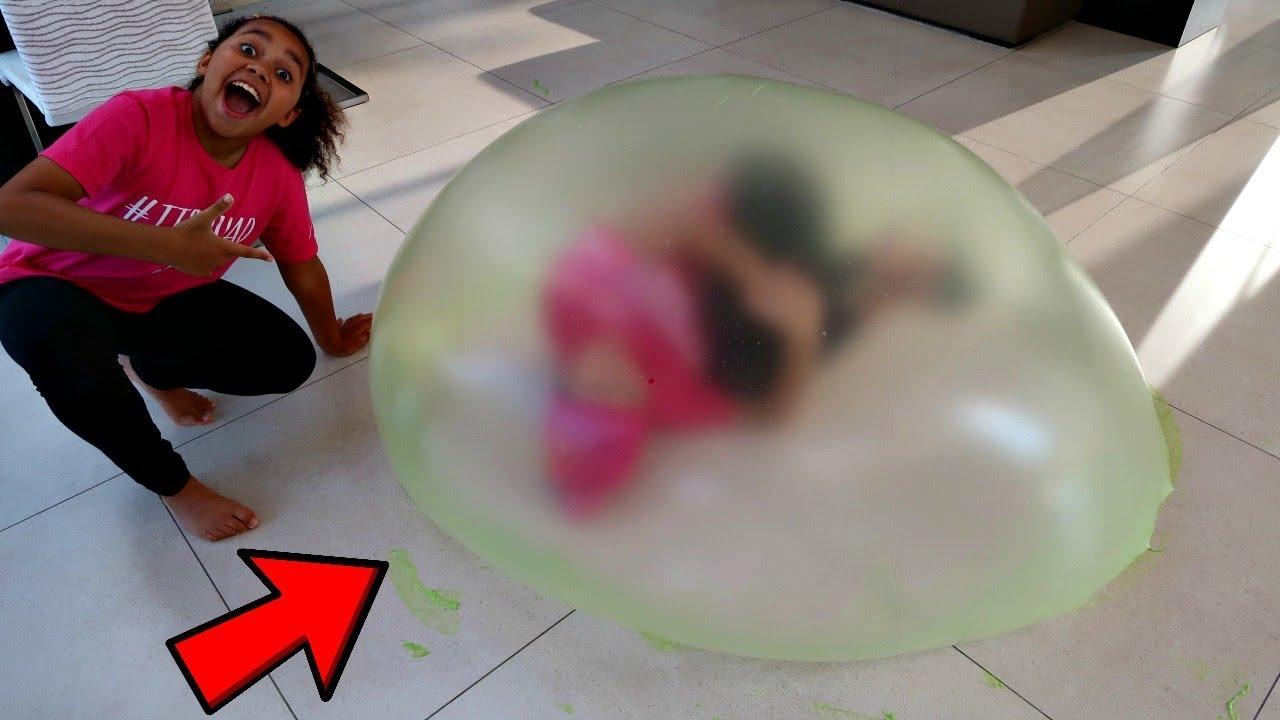 Inside Tiana S Giant Slime Bubble Youtube
