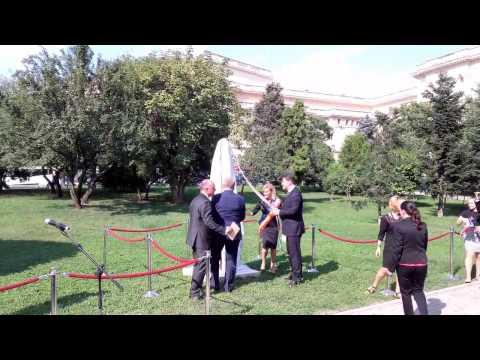 Dezvelirea bustului lui Alexander Dubček