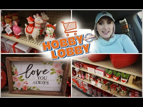 SHOP WITH ME AT HOBBY LOBBY! | Valentine's Day Decor!