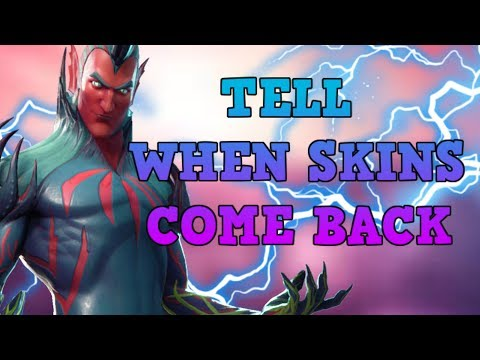 HOW To Tell When SKINS Come Back! - When Skins Return In Fortnite!