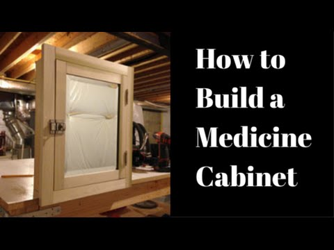 How To Build A Medicine Cabinet YouTube Simple Bathroom Cabinet Design Plans