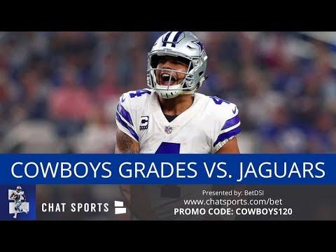 Cowboys vs Jaguars: Grades For Dak Prescott, Cole Beasley, Jason Garrett, Offense & Scott Linehan