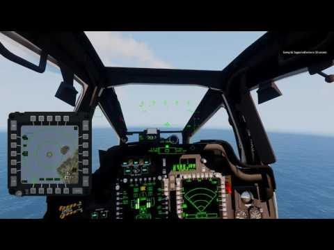 Arma 3  ZRArmy Alf.Snake Fly Apache AH-64D en misison practica + TrackIR5