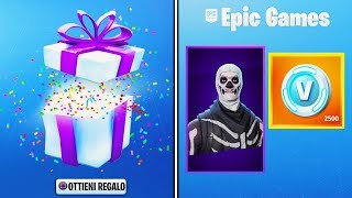 How They Will RECEIVE SKIN FREE From OUR AMICI on Fortnite - New Gift System!!