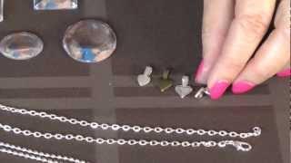 Glass Pendant Necklace DIY Tutorial