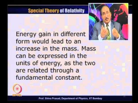 Mod-01 Lec-15 Momentum Energy Four Vector
